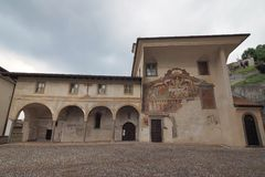 Clusone Bergamo, Lombardia, Italia - dei Disciplini di oratorio: Ballo della morte Immagine Stock Libera da Diritti
