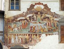 Clusone, Fresco, Dance of the Death Stock Photos