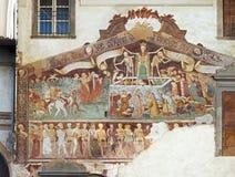 Clusone freskomålning, dans av döden Arkivfoton