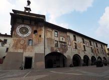 Clusone - horloge planétaire Construit en 1583 images libres de droits