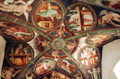 Clusone, iglesia Imagen de archivo libre de regalías