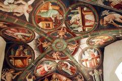 Clusone, Kirche Lizenzfreies Stockbild