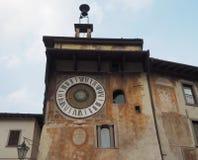 Clusone - orologio planetario Costruito nel 1583 Fotografie Stock Libere da Diritti