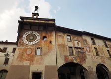Clusone - reloj planetario Construido en 1583 Imagen de archivo