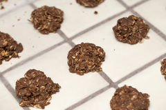 Cluster of Baked No Bake Cookies royalty free stock image