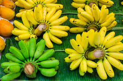 Cluster of Banana on sales Royalty Free Stock Photo