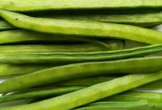 Cluster Beans. Vegetable natural and healthy food Stock Photos