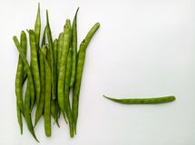 Cluster Beans. Vegetable natural and healthy food Stock Photo