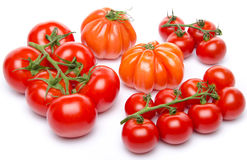 Cluster and beefsteak tomatoes Stock Photo
