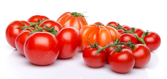 Cluster and beefsteak tomatoes Royalty Free Stock Photography