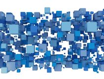 Cluster of blue blocks isolated on white. Background royalty free illustration