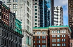 Cluster of buildings in downtown Boston, Massachusetts. Stock Images