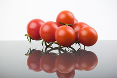 Cluster cherry tomatoes Stock Image