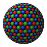 Cluster of colored spheres forming a larger one Royalty Free Stock Photos