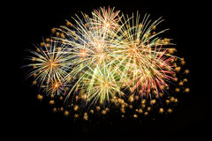 Cluster of colorful fireworks Royalty Free Stock Photos