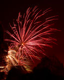 Cluster of colorful fireworks - Independence day Stock Photos