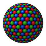 Cluster die van gekleurde gebieden grotere vormt vector illustratie