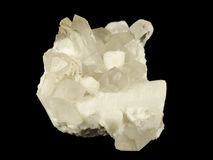 Cluster of feldspar, quartz and topaz crystals Royalty Free Stock Photos