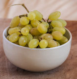 Cluster of fresh grape in bowl Stock Photography