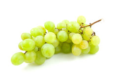 Cluster of fresh white grapes Royalty Free Stock Image