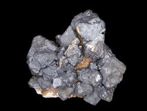 Cluster of galena crystals Stock Photo