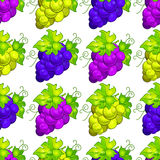 Cluster grapes seamless pattern Stock Photo