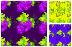 Cluster grapes seamless pattern Royalty Free Stock Photo