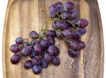 Cluster of grapes in water drops Royalty Free Stock Photo