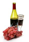 Cluster of grapes and wine Stock Photo