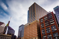 Cluster of highrises in downtown Baltimore, Maryland. Royalty Free Stock Photos