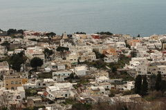 Cluster of  houses in Anacapri, Italy Royalty Free Stock Images