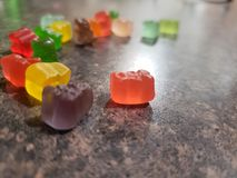 Group of gummy bears stock photo