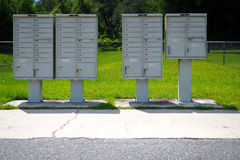 Cluster Mailboxes. Official USPS approved cluster mailboxes Royalty Free Stock Photo