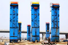 Cluster oil well Stock Images