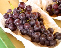 Cluster of red grapes closeup Royalty Free Stock Photography