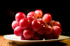 Cluster of Red Grapes Royalty Free Stock Photo