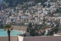 Dense housing in hillside, French Riviera Royalty Free Stock Image