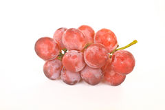 Cluster of ripe juicy red grapes Royalty Free Stock Images