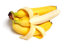 Cluster of ripe yellow bananas Royalty Free Stock Photo