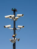 Cluster of Security Cameras Stock Photography