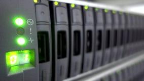 Cluster Server Data Room. HDD sata datacenter. Concept 3. Data stock footage