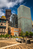 Cluster of skyscrapers in Boston, Massachusetts. Royalty Free Stock Photo