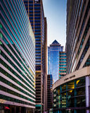 Cluster of skyscrapers in Center City, Philadelphia, Pennsylvani. A Royalty Free Stock Photography