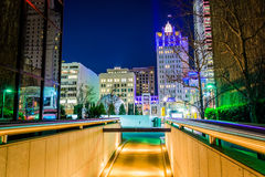 Cluster of skyscrapers at night in Dallas, Texas. Royalty Free Stock Photo