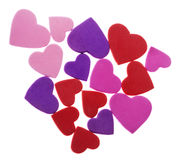 Isolated Foam Hearts Cluster Stock Photo