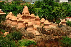 Cluster of small Jain temples Stock Photography
