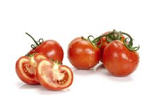 Cluster tomatoes Royalty Free Stock Images