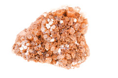 Cluster of twinned aragonite on a white background Stock Photos
