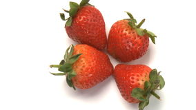 cluster van aardbeien 3 stock video