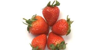 cluster van aardbeien 4 stock video